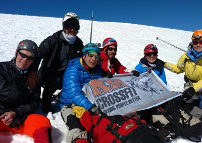 Grupo RM en el Volcán Lanin