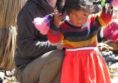 Mercedes y Gabriel en su viaje a Perú